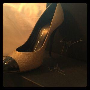 Gold/Black Giuseppe Zanotti heels